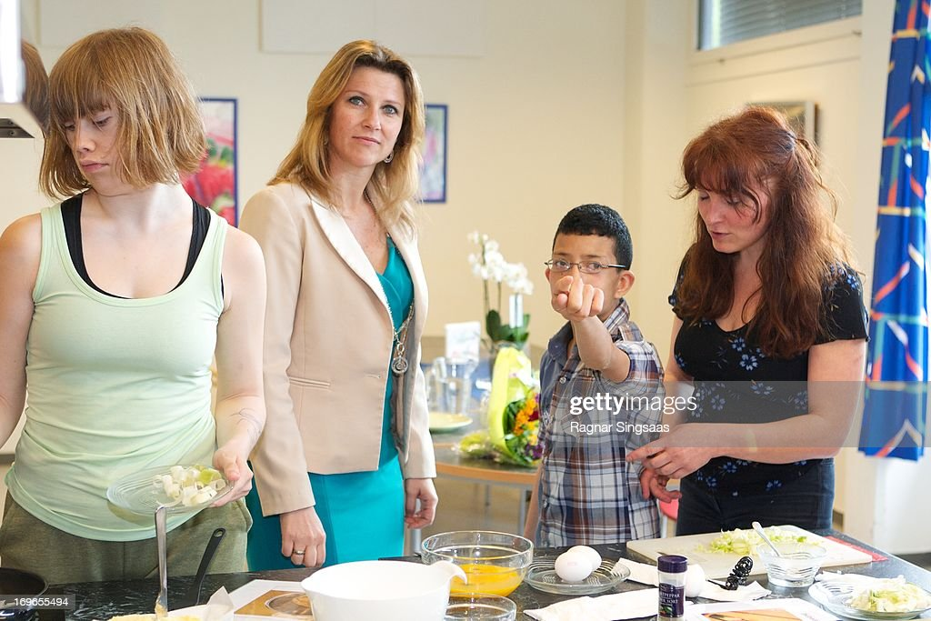 Princess Martha Louise of Norway Visits Haukasen Elementary School on the School's 40th Anniversary, on May 30, 2013 in Oslo, Norway.