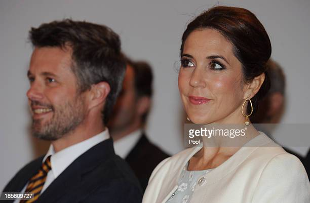 Princess Mary and Crown Prince Frederik of Denmark attends the official opening of 'Danish Design at the House' at the Sydney Opera House on October...