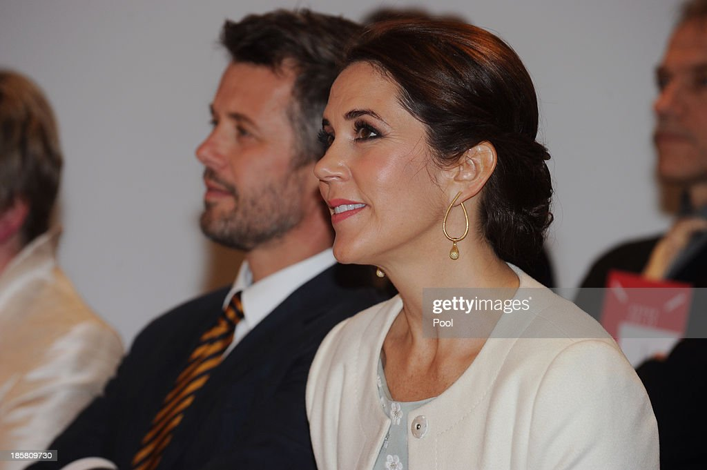 Princess Mary and Crown <a gi-track='captionPersonalityLinkClicked' href=/galleries/search?phrase=Prince+Frederik+of+Denmark&family=editorial&specificpeople=171286 ng-click='$event.stopPropagation()'>Prince Frederik of Denmark</a> attends the official opening of 'Danish Design at the House' at the Sydney Opera House on October 25, 2013 in Sydney, Australia. Prince Frederik and Princess Mary are visiting Sydney for five days and will attend events to celebrate the 40th anniversary of the Sydney Opera House and the Danish architect who designed the landmark, Jorn Utzen.