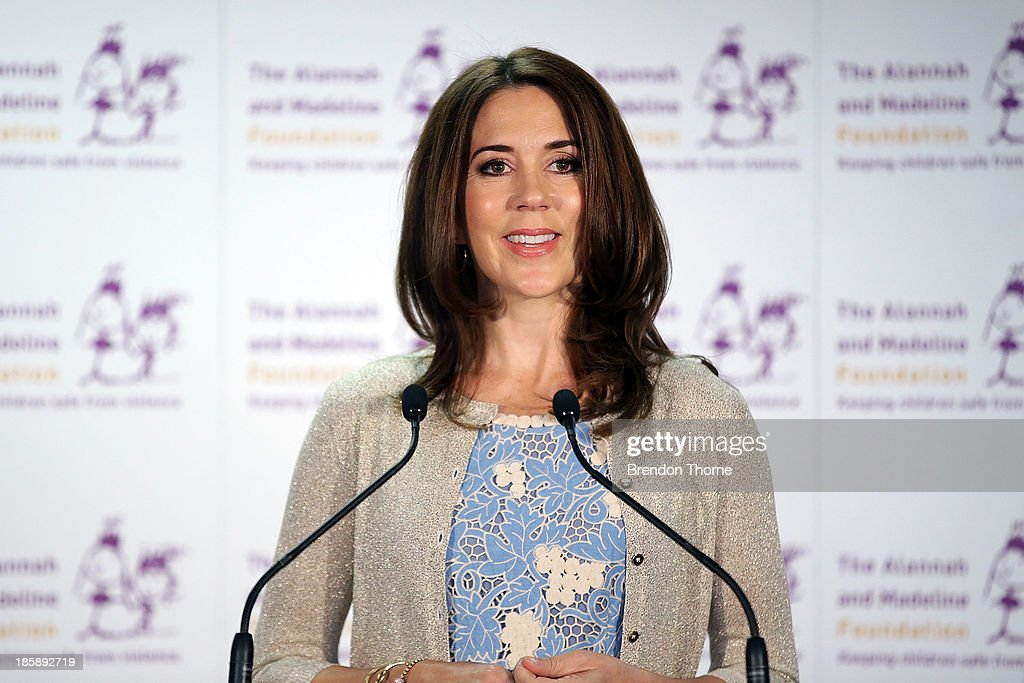 Princess Mary of Denmark addresses guests at the launch of eSmart Homes Digital License, The Alannah and Madeline Foundation on October 26, 2013 in Sydney, Australia. Prince Frederik and Princess Mary will visit Sydney for five days and will attend events to celebrate the 40th anniversary of the Sydney Opera House and the Danish architect who designed the landmark, Jorn Utzen.