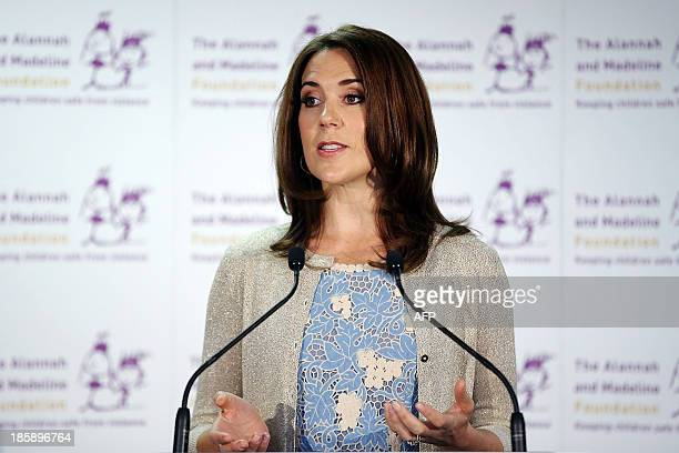 Princess Mary of Denmark addresses guests at the launch of eSmart Homes Digital License an initiative of The Alannah and Madeline Foundation on...