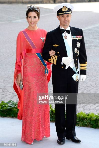 Princess Mary of Denmark and Crown Prince Frederik of Denmark attend the wedding of Princess Madeleine of Sweden and Christopher O'Neill hosted by...