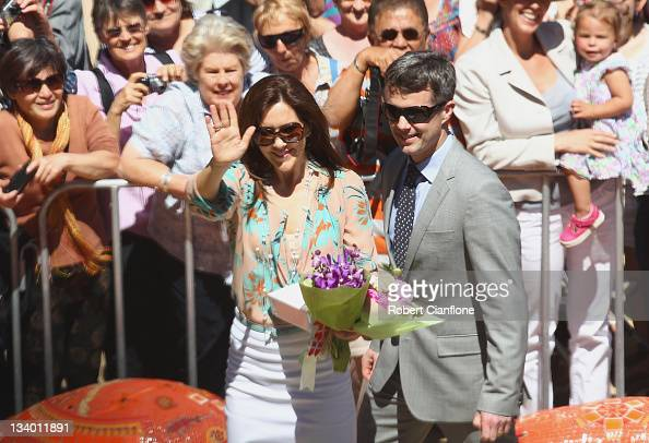 Princess Mary of Denmark and Prince Frederik of Denmark arrive at ART Play to view the Lego competition 'Build the Change' on November 24 2011 in...