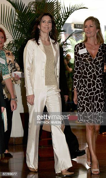 Princess Mary of Denmark arrives at a luncheon hosted by a Mental Health Foundation Australia at the Four Seasons Hotel during her visit in Sydney 03...
