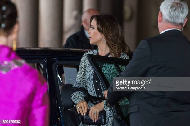 Princess Mary of Denmark arrives Stockholm city hall for an official dinner on May 30 2017 in Stockholm Sweden