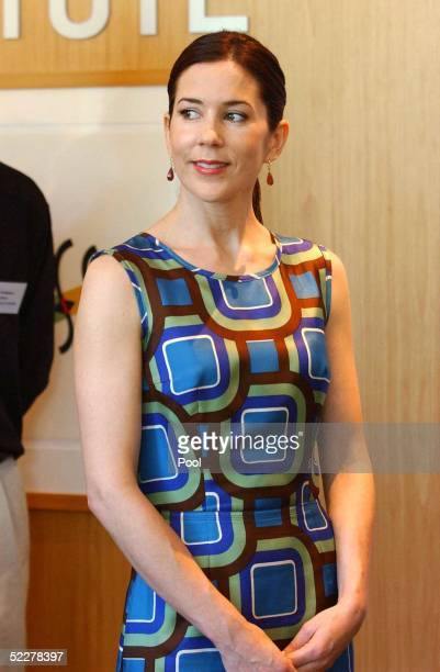 Princess Mary of Denmark at the Australian Cancer Research Foundation at Westmead Hospital in Sydney's Western Suburbs today March 5 2005 in Sydney...