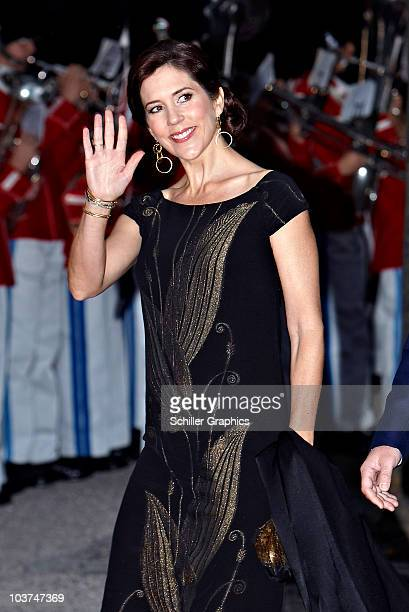 Princess Mary of Denmark attends a memorial concert in honour of the late Queen Ingrid's 100th birthday at Tivoli on August 31 2010 in Copenhagen...