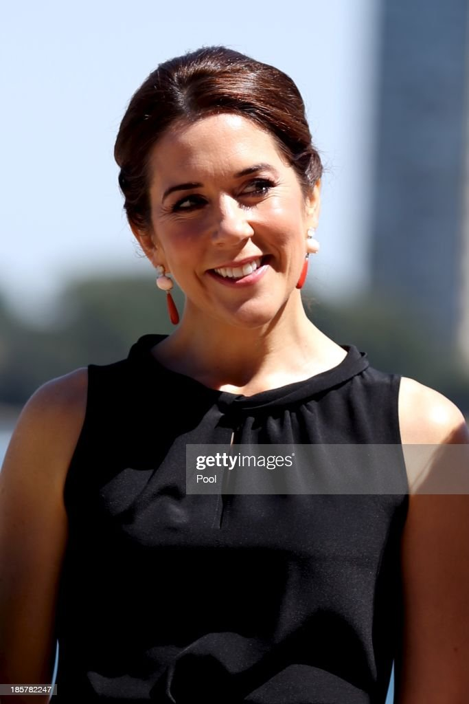 Princess Mary of Denmark attends the launch of 'MADE' and 'Architecture Makes the City' at the Sydney Opera House on October 25, 2013 in Sydney, Australia. Prince Frederik and Princess Mary will visit Sydney for five days and will attend events to celebrate the 40th anniversary of the Sydney Opera House and the Danish architect who designed the landmark, Jorn Utzen.