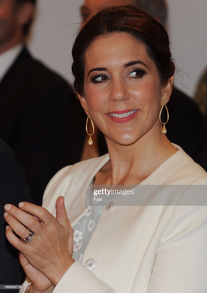 Princess Mary of Denmark attends the official opening of 'Danish Design at the House' at the Sydney Opera House on October 25, 2013 in Sydney, Australia. Prince Frederik and Princess Mary are visiting Sydney for five days and will attend events to celebrate the 40th anniversary of the Sydney Opera House and the Danish architect who designed the landmark, Jorn Utzen.
