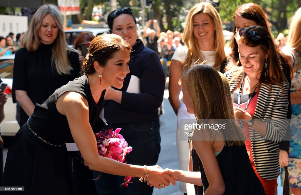 Princess Mary of Denmark attends the official opening of Ole Lynggaard Flagship Store on October 25, 2013 in Sydney, Australia. Prince Frederik and Princess Mary will visit Sydney for five days and will attend events to celebrate the 40th anniversary of the Sydney Opera House and the Danish architect who designed the landmark, Jorn Utzen.
