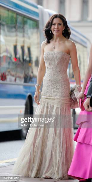 Princess Mary of Denmark is seen ahead of the wedding between Crown Princess Victoria of Sweden and Daniel Westling at on June 18 2010 in Stockholm...