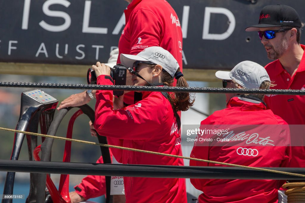 princess-mary-of-denmark-on-board-wild-oats-xi-takes-photos-of-the-picture-id890673152