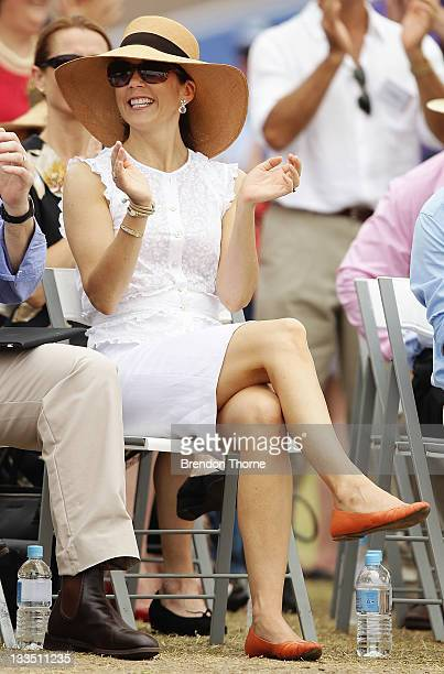 Princess Mary of Denmark smiles during her visit to 'Sculpture by the Sea' on November 20 2011 in Sydney Australia