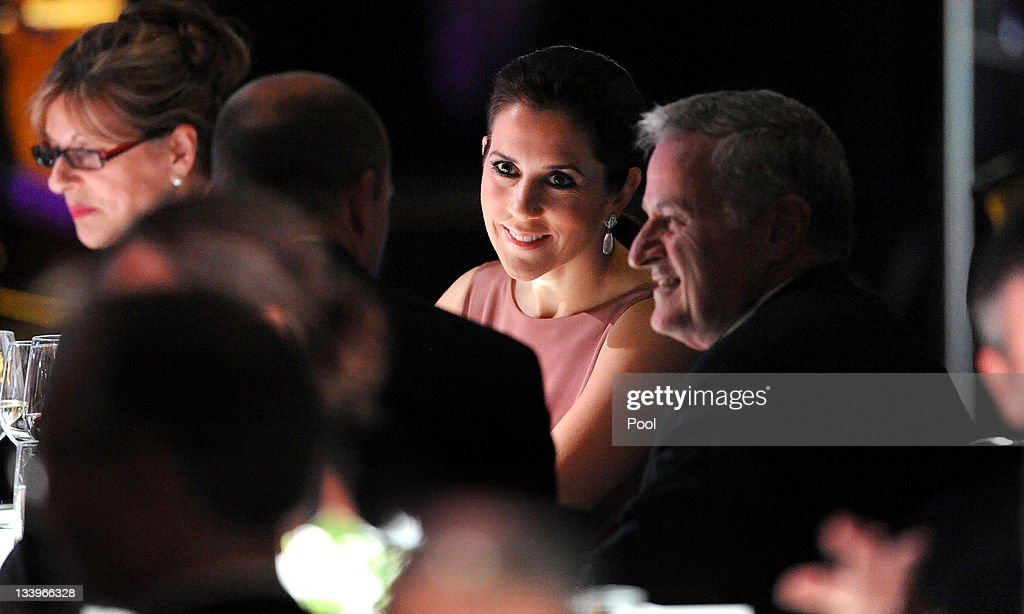 Princess Mary of Denmark (C) speaks to guests at a business delegation dinner on November 23, 2011 in Melbourne, Australia. Princess Mary and Prince Frederik are on their first official visit to Australia since 2008. The Royal visit began in Sydney, before heading to Melbourne, Canberra and Broken Hill.