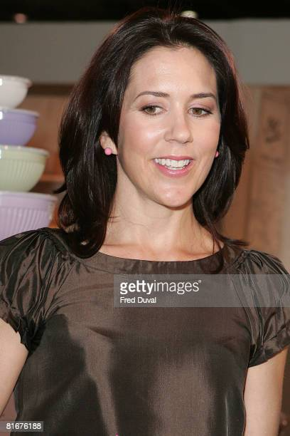 Princess Mary of Denmark visits the home and gift trade show Summer Fair 2008 at the ExCel Centre on June 23 2008 in London England