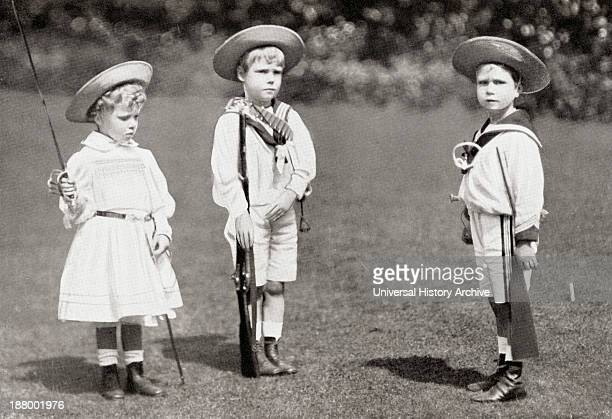 Princess Mary Prince Edward Later King Edward Viii And Prince Albert As Children The Princess Mary Princess Royal And Countess Of Harewood Victoria...