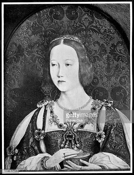 Princess Mary Tudor Queen consort of France for a year in 1514 following her marriage to Louis XII Sister to King Henry VIII of England Portrait by...