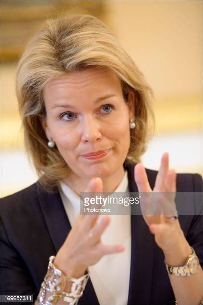Princess Mathilde attends a meeting on 'Women Empowerment The Intersection of Power and Agency and Economic Advancement' on May 30 2013 in Brussels...
