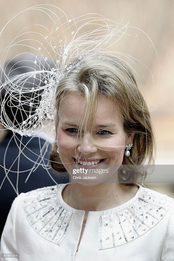 Princess Mathilde of Belgium arrives at the Parliment's Lunch at City Hall to celebrate his 60th Birthday on April 30, 2006 in Stockholm, Sweden.