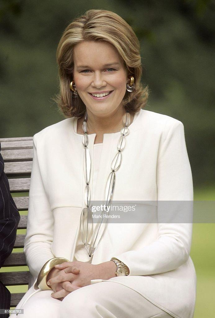Princess Mathilde of Belgium attends a press photocall at Laeken Castle on June 17, 2008 in Brussels, Belgium.