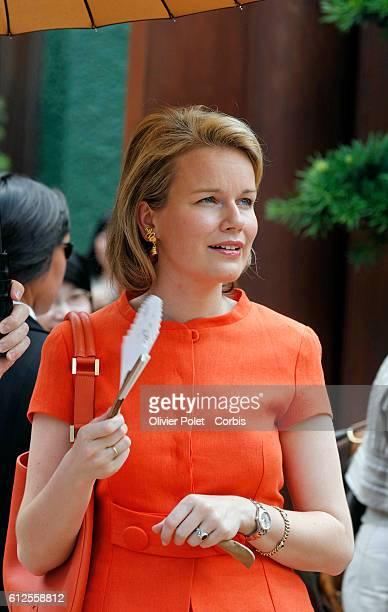 Princess Mathilde of Belgium visits the garden of Nan Lian in Hong Kong