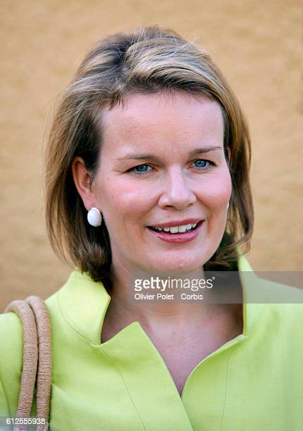 Princess Mathilde of Belgium visits the vegetable garden of hospital farm while on an official fourday visit in Senegal within the framework of an...
