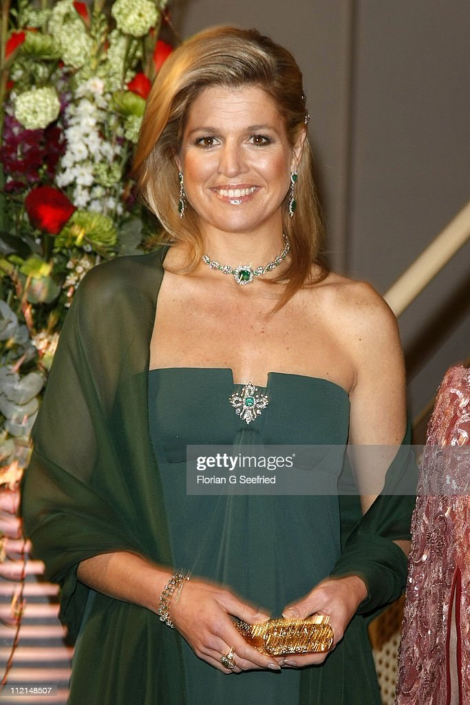 Princess Maxima arrives for the performance of the Dutch Royal Concert Orchestra at the Berlin Philharmonic on April 13, 2011 in Berlin, Germany. The Dutch royals are on a four-day visit to Germany that includes stops in Berlin, Dresden and Duesseldorf.