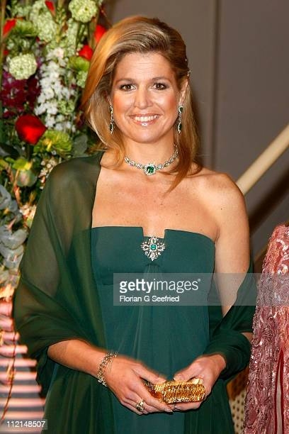 Princess Maxima arrives for the performance of the Dutch Royal Concert Orchestra at the Berlin Philharmonic on April 13 2011 in Berlin Germany The...