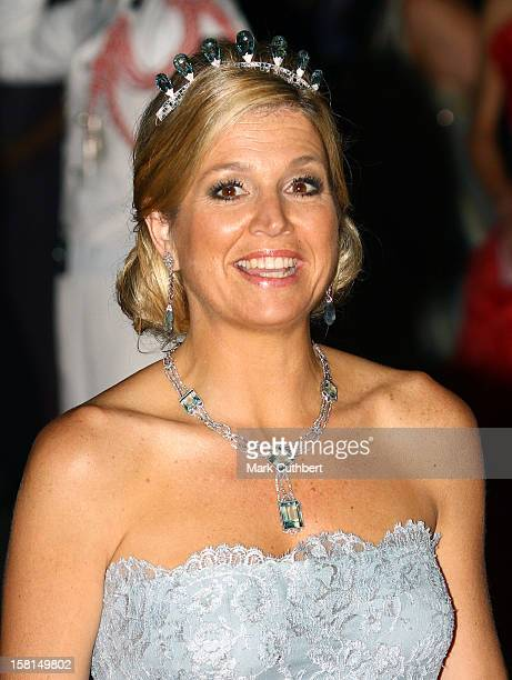 Princess Maxima Of Netherlands Arriving For The Official Dinner For Prince Albert Ii Of Monaco And Charlene Wittstock At The Monte Carlo Opera House