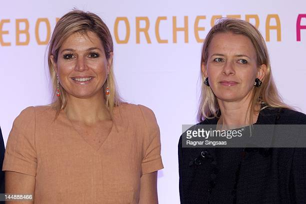 Princess Maxima of the Netherlands and Princess Mabel of the Netherlands attend concert with the Dutch Royal Concertgebouw Orchestra at Barbican...