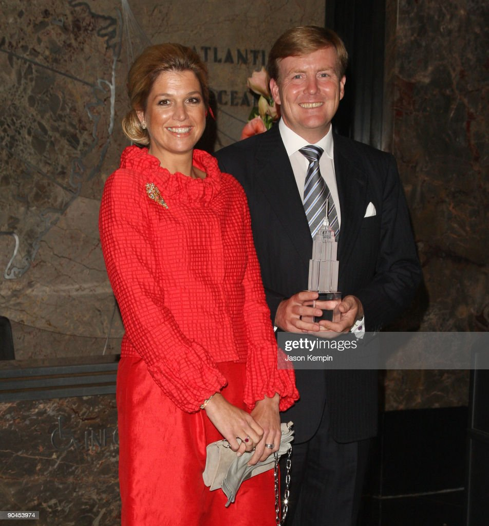 Princess Maxima of the Netherlands and Royal Highness Prince Willem-Alexander of Orange attend the launch of NY400 at The Empire State Building on September 8, 2009 in New York City.