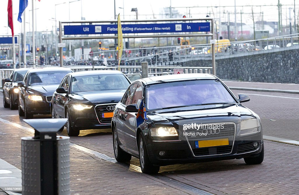 Princess Maxima of the Netherlands arrives in her Audi to award the Prince Bernhard Culture Prize on November 26, 2012 in Amsterdam, Netherlands.