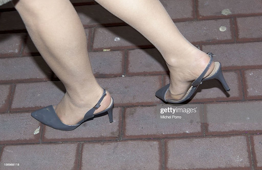 Princess Maxima of The Netherlands (shoe detail) arrives to award the Prince Bernhard Culture Prize at the Music Centre on November 26, 2012 in Amsterdam, Netherlands.