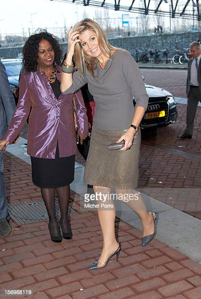 Princess Maxima of The Netherlands arrives to award the Prince Bernhard Culture Prize at the Music Centre on November 26 2012 in Amsterdam Netherlands