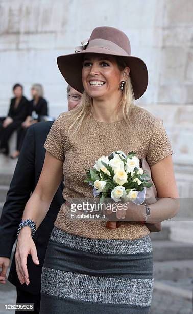 Princess Maxima of the Netherlands attends Mondrian Exhibition Opening at Complesso del Vittoriano on October 6 2011 in Rome Italy