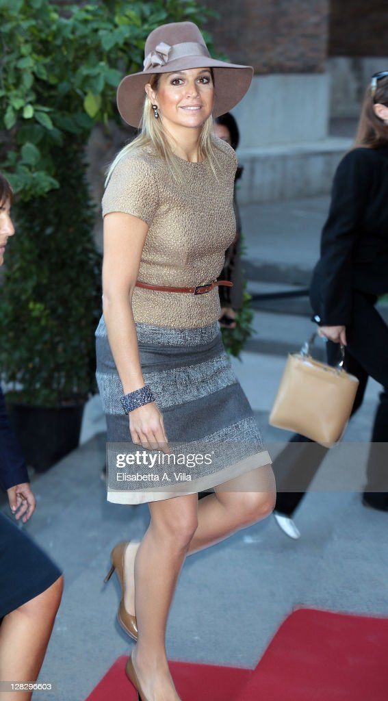 Princess Maxima of the Netherlands attends Mondrian Exhibition Opening at Complesso del Vittoriano on October 6, 2011 in Rome, Italy.