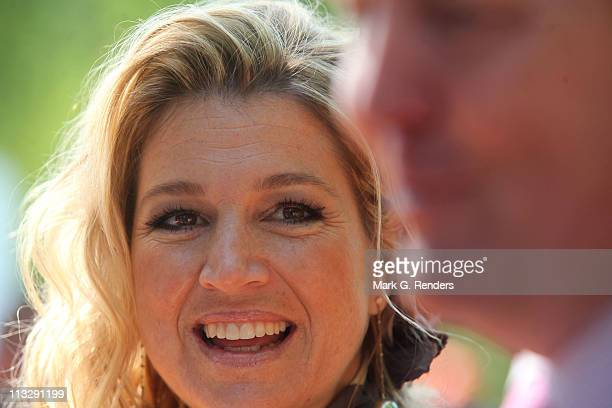 Princess Maxima of The Netherlands celebrate Queens Day on April 30 2011 in Weert Netherlands