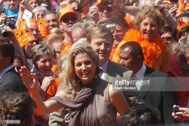 Princess Maxima of The Netherlands celebrates Queens Day on April 30 2011 in Weert Netherlands