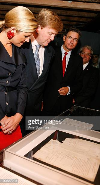 HRH Princess Maxima of The Netherlands HRH Crown Prince WillemAlexander of the Netherlands Dutch Minister of Foreign Affairs Maxime Verhagen and...
