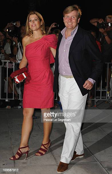 Princess Maxima of the Netherlands Prince WillemAlexander of the Netherlands arrive at Poseidon Grace Hotel on August 24 2010 in Spetsai Greece The...