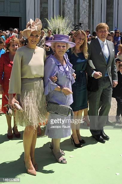 Princess Maxima of the Netherlands Queen Beatrix of the Netherlands Princess Mabel and Prince WillemAlexander leave the Princess Carolina Church...