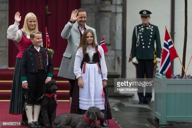 Princess Mette Marit of Norway Prince Haakon of Norway Prince Sverre Magnus of Norway Princess Ingrid Alexandra of Norway during the children's...