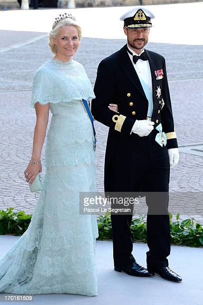 Princess MetteMarit of Norway and Crown Prince Haakon of Norway attend the wedding of Princess Madeleine of Sweden and Christopher O'Neill hosted by...