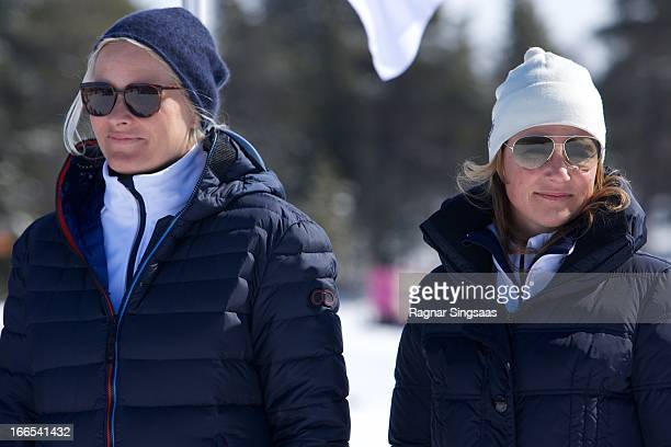 Princess MetteMarit of Norway and Princess Martha Louise of Norway attend the 50th Ridderrenn skiing competition for the visually impaired on April...