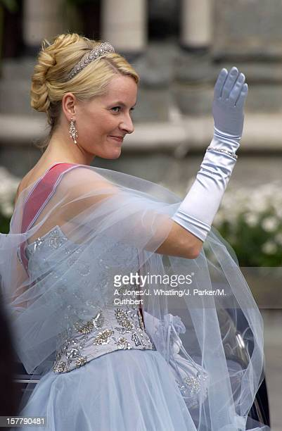 Princess MetteMarit Of Norway At The Wedding Of Princess Martha Louise Of Norway And Ari Behn In Trondheim