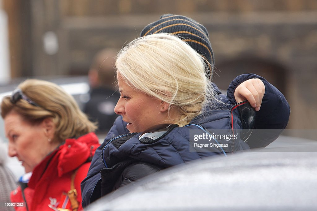 Princess Mette-Marit of Norway attends FIS World Cup Nordic Holmenkollen 2013 on March 17, 2013 in Oslo, Norway.