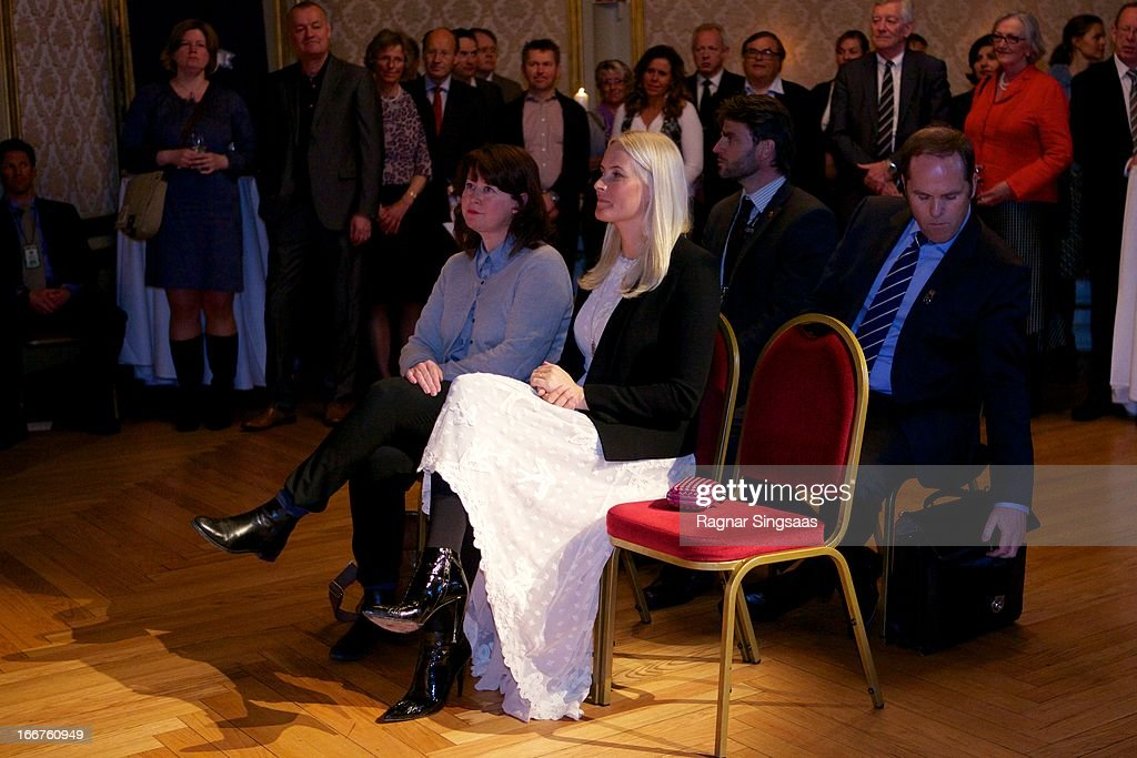 Princess Mette-Marit of Norway attends the Co-Op environmental awards at National Theatre on April 16, 2013 in Oslo, Norway.