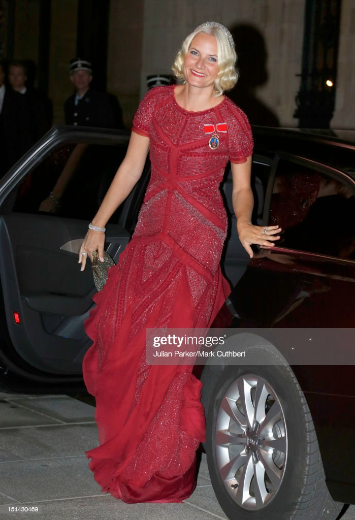 Princess Mette-Marit of Norway attends the Gala dinner for the wedding of Prince Guillaume Of Luxembourg and Stephanie de Lannoy at the Grand-ducal Palace on October 19, 2012 in Luxembourg, Luxembourg. The 30-year-old hereditary Grand Duke of Luxembourg is the last hereditary Prince in Europe to get married, marrying his 28-year old Belgian Countess bride in a lavish 2-day ceremony.