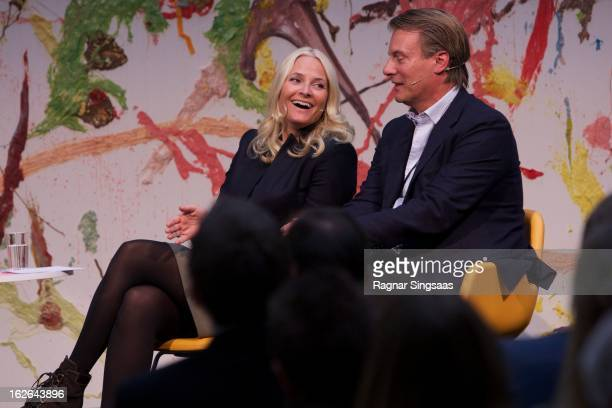 Princess MetteMarit of Norway attends the Resources gone astray conference at Astrup Fearnley Museum on February 25 2013 in Oslo Norway