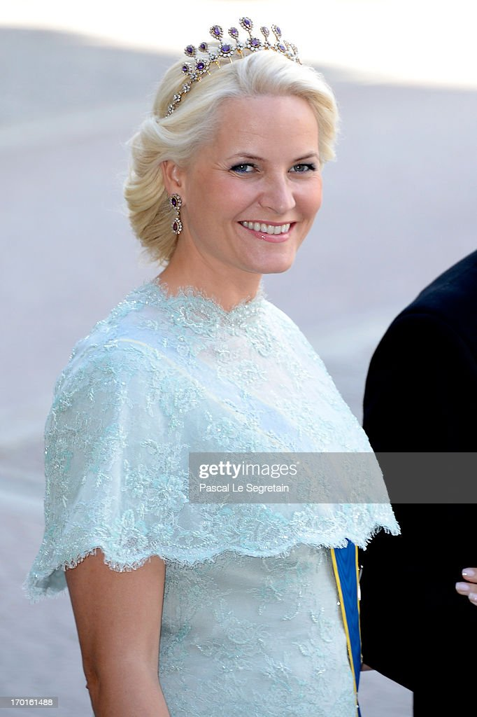 Princess Mette-Marit of Norway attends the wedding of Princess Madeleine of Sweden and Christopher O'Neill hosted by King Carl Gustaf XIV and Queen Silvia at The Royal Palace on June 8, 2013 in Stockholm, Sweden.